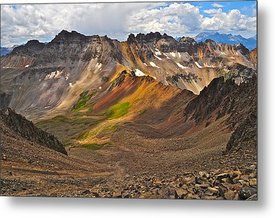 Blue Lakes Pass Metal Print by Aaron Spong