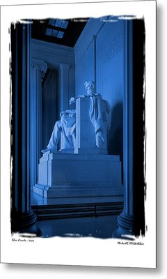 Blue Lincoln Metal Print by Mike McGlothlen