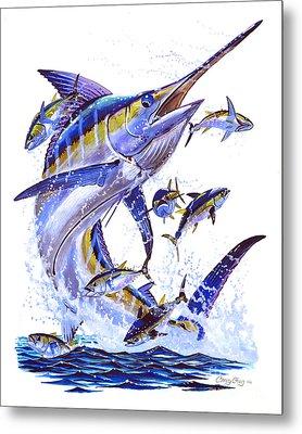 Blue Marlin Metal Print by Carey Chen
