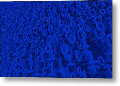 Blue Matrix Metal Print by Vitaliy Gladkiy