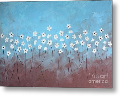 Blue Meadow Metal Print by Home Art