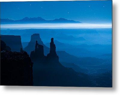 Blue Moon Mesa Metal Print by Dustin  LeFevre