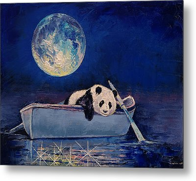 Blue Moon Metal Print by Michael Creese