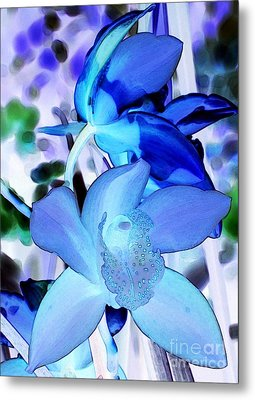 Blue Orchids Metal Print by Kathleen Struckle
