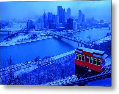 Blue Pittsburgh Metal Print by Matt Matthews