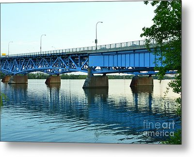 Blue Reflections Metal Print by Kathleen Struckle