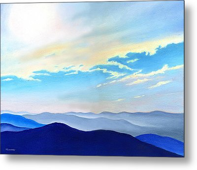 Blue Ridge Blue Above Metal Print by Catherine Twomey