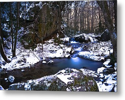 Blue Ridge Mountain Winter Metal Print by Ryan Phillips