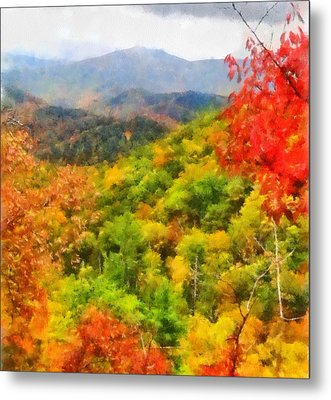 Blue Ridge Mountains Fall Color Metal Print by Dan Sproul
