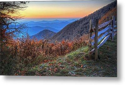 Blue Ridge Sunrise Metal Print by Jaki Miller
