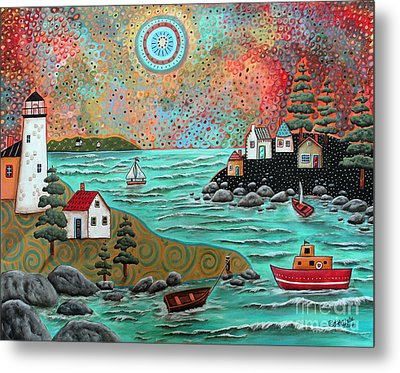 Blue Sea Metal Print by Karla Gerard