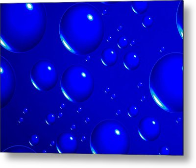 Blue Sphere-abstract Metal Print by Tom Druin