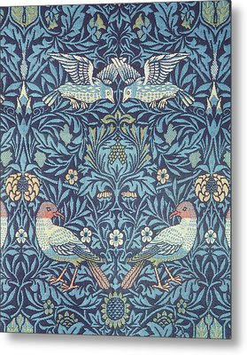 Blue Tapestry Metal Print by William Morris