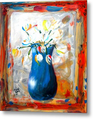 Blue Thing Metal Print by Marcello Cicchini