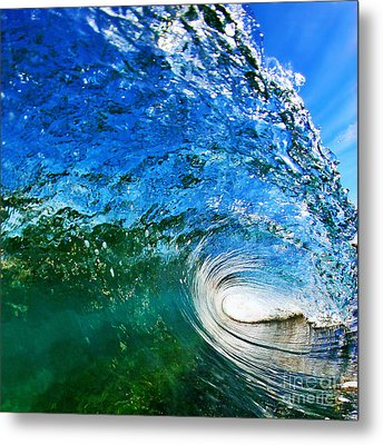 Blue Tube Metal Print by Paul Topp
