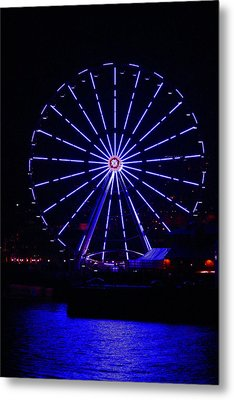 Blue Wheel Of Fortune Metal Print by Kym Backland