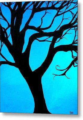Blue Winter Metal Print by Debi Starr