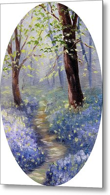 Bluebell Wood Metal Print by Meaghan Troup