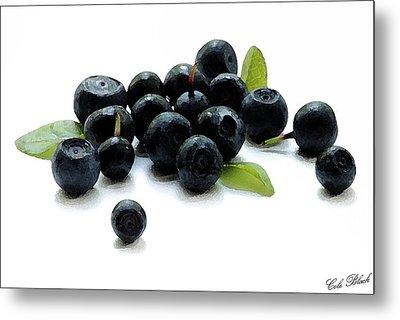 Blueberries Metal Print by Cole Black
