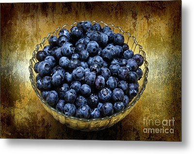 Blueberry Elegance Metal Print by Andee Design