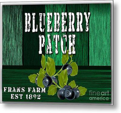 Blueberry Farm Metal Print by Marvin Blaine