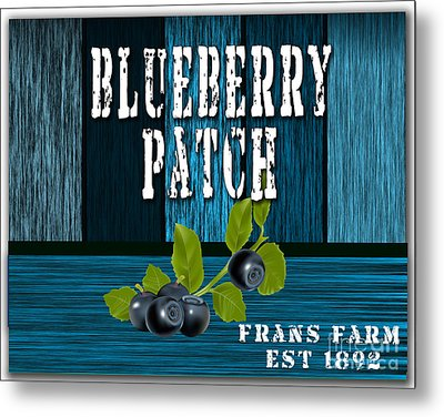 Blueberrys Metal Print by Marvin Blaine