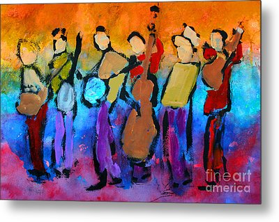 Bluegrass Band Metal Print by Mordecai Colodner