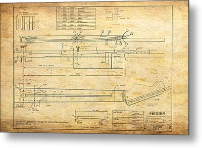 Blueprint For Rock And Roll Metal Print by GCannon