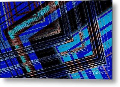 Bluish Geometric Design Metal Print by Mario Perez