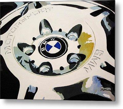 Bmw Ltw Wheel Metal Print by Indaguis Montoto