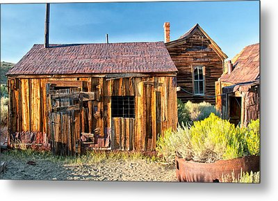 Boarded Up Metal Print by Cat Connor