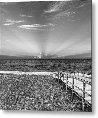 Boardwalk To The Sea Metal Print by Michelle Wiarda