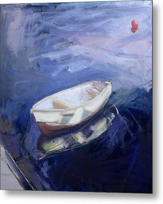 Boat And Buoy Metal Print by Sue Jamieson