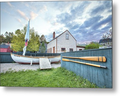 Boat And Oars Metal Print by Eric Gendron