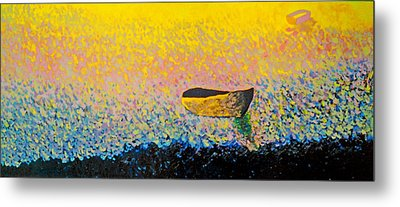 Boat Metal Print by Andrew Petras