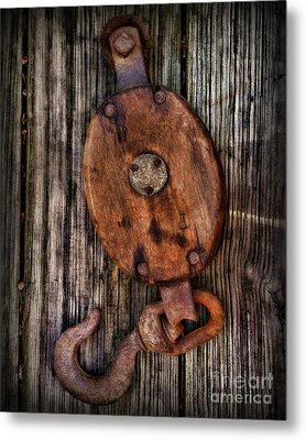 Boat - Block And Tackle Metal Print by Paul Ward