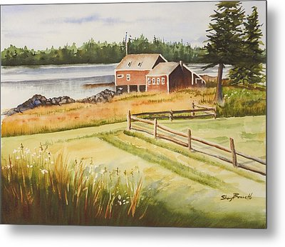 Boat House On Penobscot Bay Metal Print by Sheryl Bessette