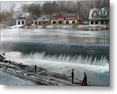 Boat House Row Metal Print by Eric Nagy
