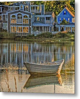 Boat In Late Afternoon Metal Print by Phyllis Meinke