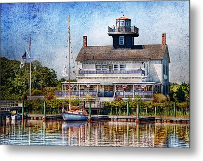 Boat - Tuckerton Seaport - Tuckerton Lighthouse Metal Print by Mike Savad
