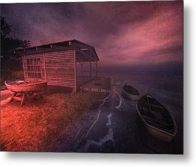 Boathouse Metal Print by Kylie Sabra