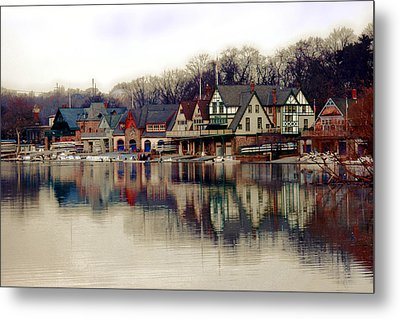 Boathouse Row Philadelphia Metal Print by Tom Gari Gallery-Three-Photography