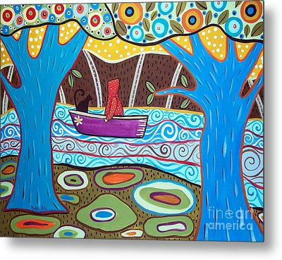Boating Metal Print by Karla Gerard