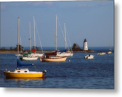 Boating On Long Island Sound Metal Print by Joann Vitali