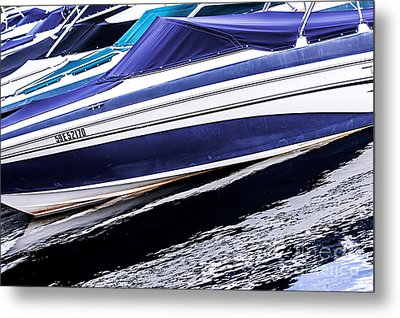 Boats And Reflections Metal Print by Elena Elisseeva