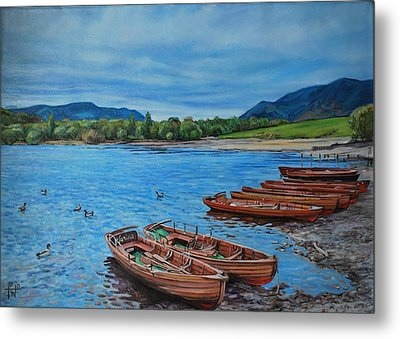 Boats For Hire Metal Print by Henry David Potwin