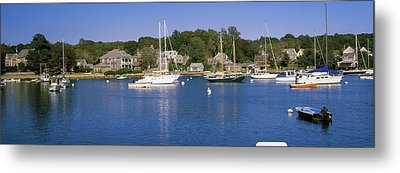 Boats In An Ocean, Provincetown, Cape Metal Print by Panoramic Images