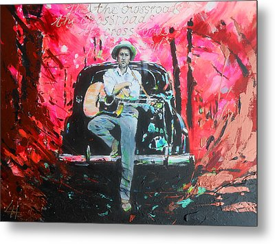 Bob Dylan - Crossroads Metal Print by Lucia Hoogervorst