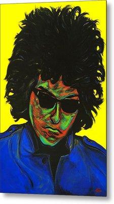 Bob Dylan Metal Print by Edward Pebworth