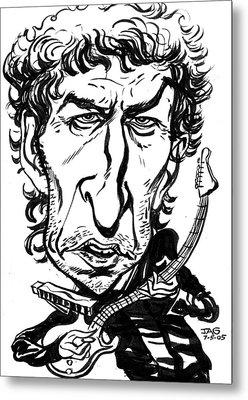 Bob Dylan Metal Print by John Ashton Golden